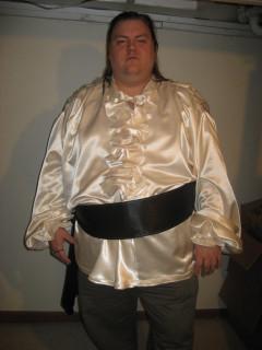 joel's wedding shirt and sash