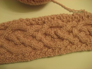 Sue's scarf cable pattern
