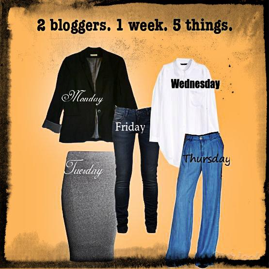 2 bloggers. 1 week. 5 things.