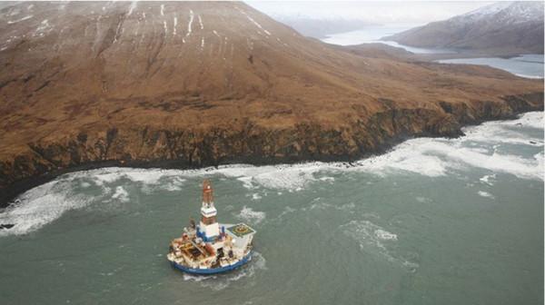 Унесенная штормом платформа Куллук Роял Дач Шелл, Аляска