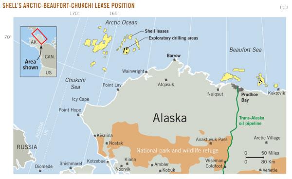 Шелл на шельфе Аляски