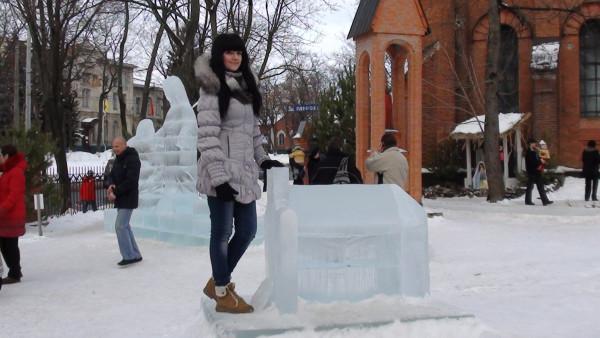 Ледяная копия костела
