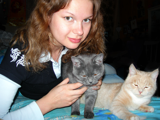 Я, Милька и Винька (слева направо)
