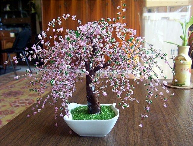 Деревья и цветы из бисера для начинающих