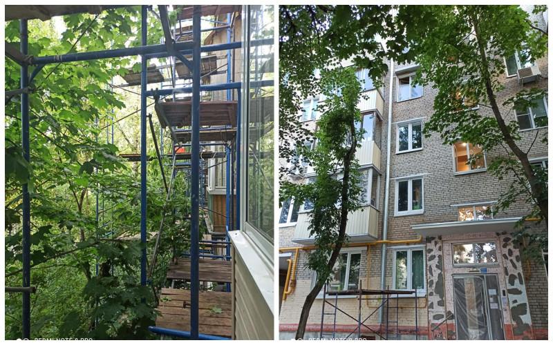 """""""Активная"""" фаза ремонта и почти готовый фасад"""