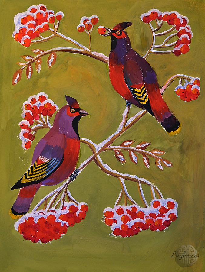 Рябиновые птицы