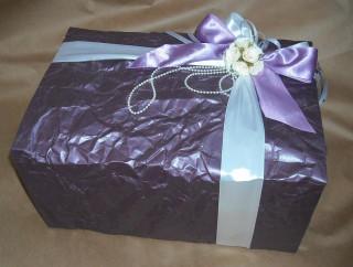 Упаковать свадебный подарок красиво