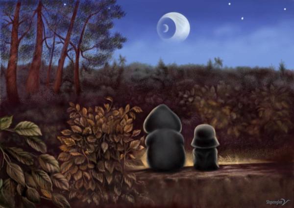 вейдер смотрит на луну детское