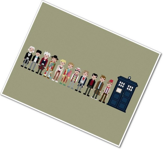 11 doctors crossstitch