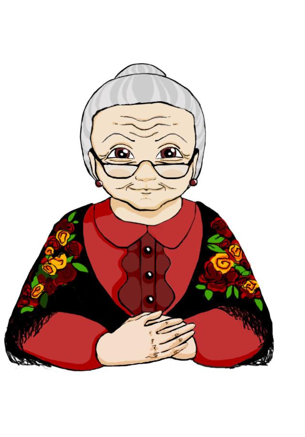 картинка рисунок бабушки и дедушки
