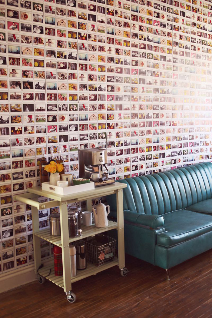DIY Instant Photo Wall in Elsie Larson's Home
