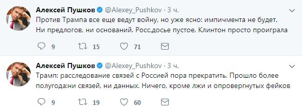 Новости России: Пушков поставил точку по теме выдуманного вмешательства РФ в американские выборы
