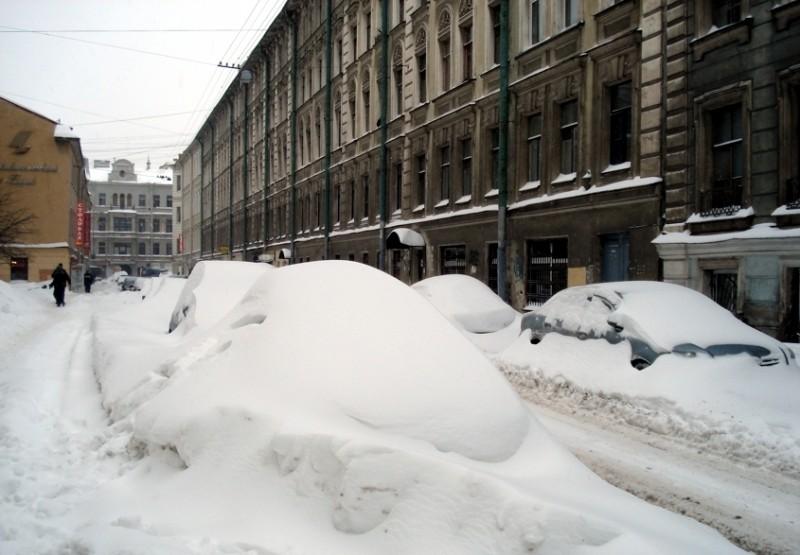 снежные зимы в Петербурге
