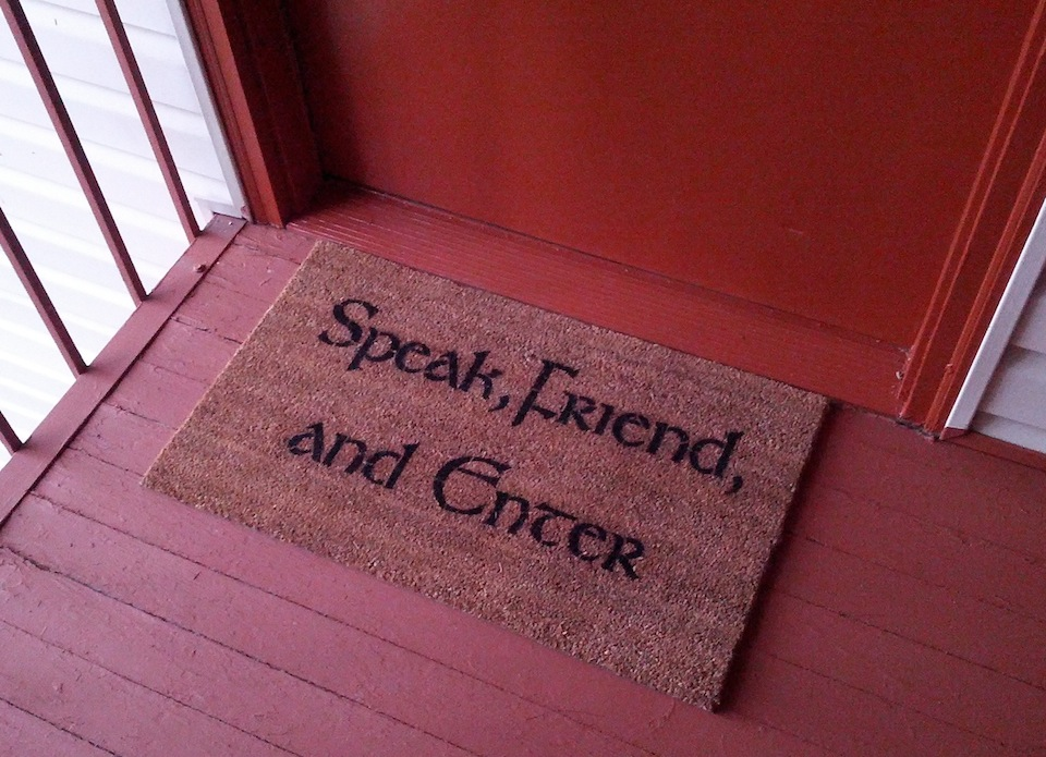 speak-friend-enter-door-matt1