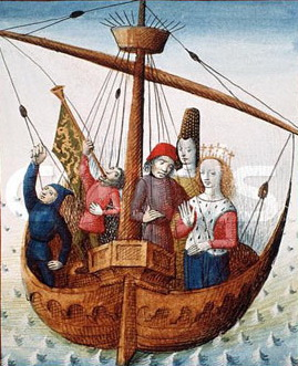 illuminated_manuscript_romance_of_tristan_tristan_and_isolde_embark_from_ireland_to_cornwall