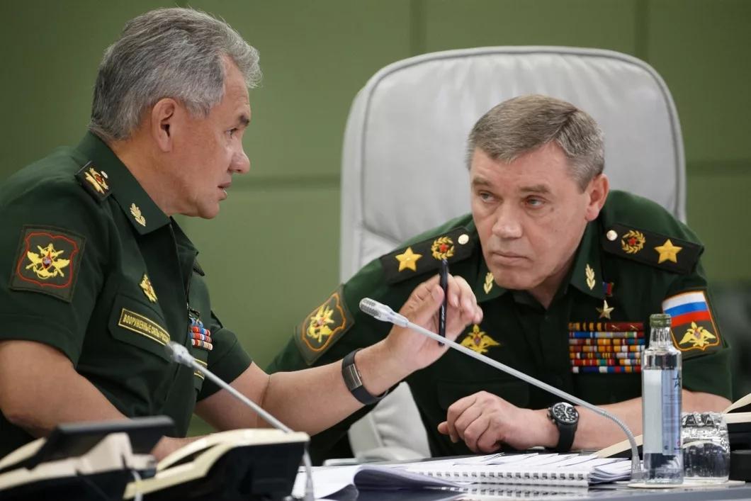 Шойгу и Герасимов Валерий Васильевич