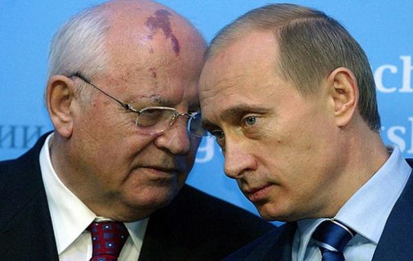 Путин с Горбачевым 20 лет назад