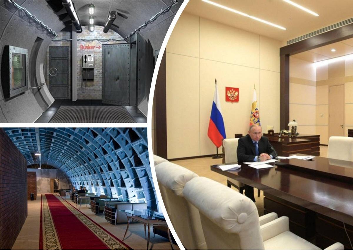 Путин пытается защитить себя от опасных пси- излучений и мутирующего вируса, работая в бункере