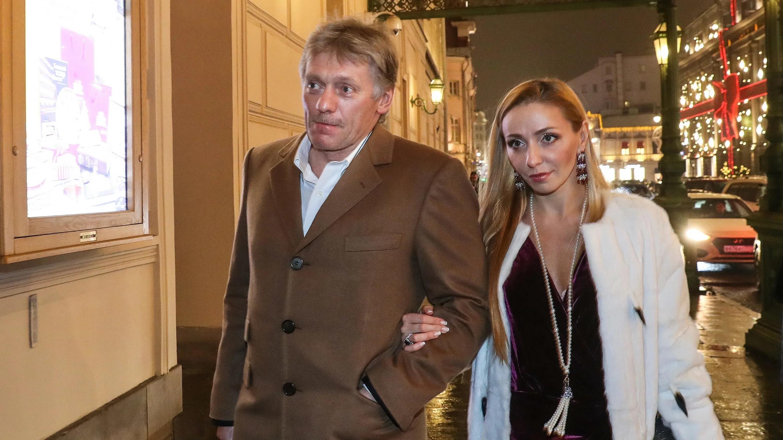 Татьяна Навка и Дмитрий Песков в Париже