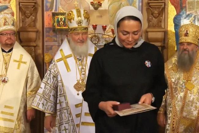 Светлана Полякова в церкви преподобного Сергия Радонежского в Царском Селе, 2014 год