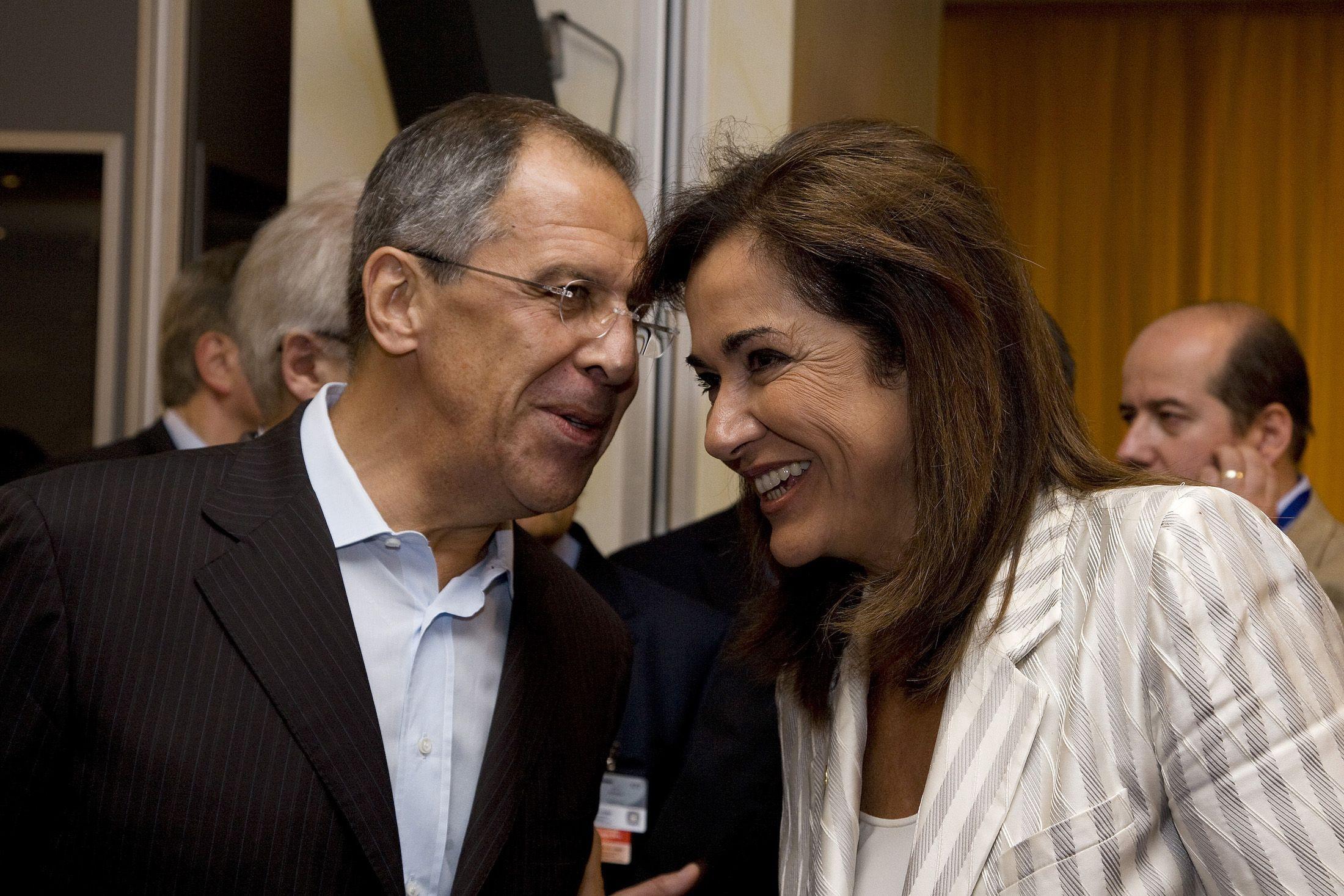 Лавров Сергей Викторович с женой