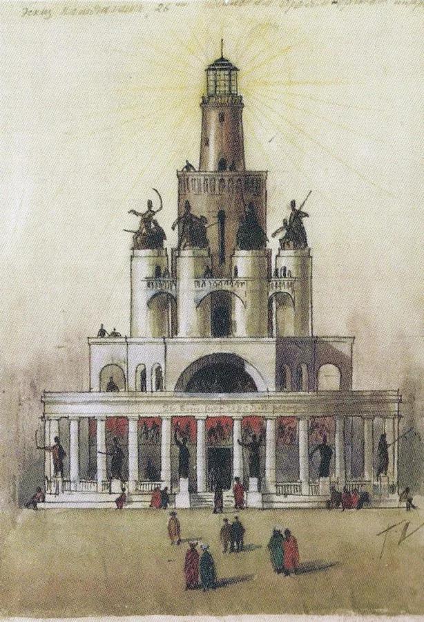 Проект памятника 26 бакинским комиссарам. 1923г