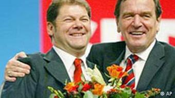 Олаф Шольц и Герхард Шрёдер, 2002 год