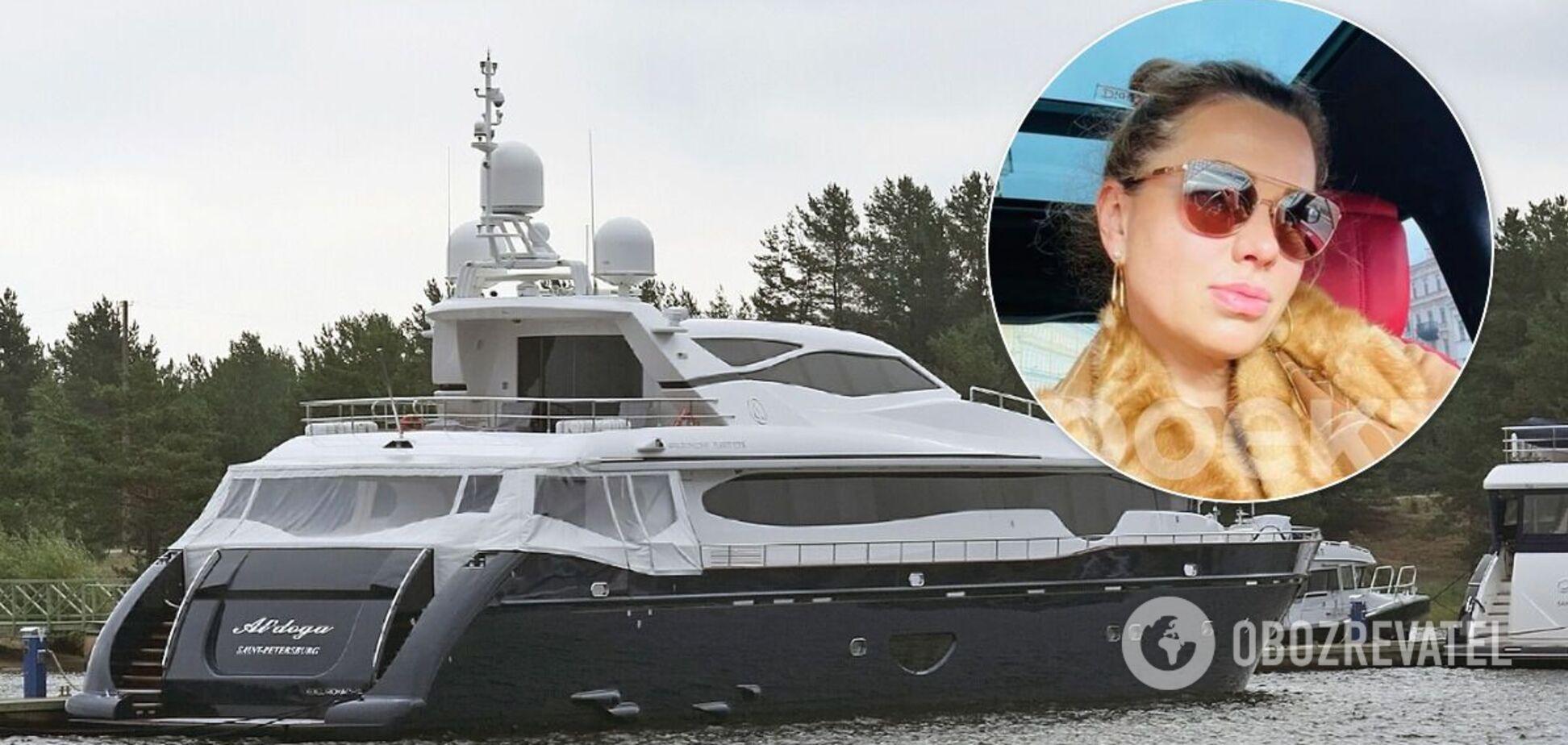 """Светлана Кривоногих плавает на элитной яхте """"Альдога"""""""