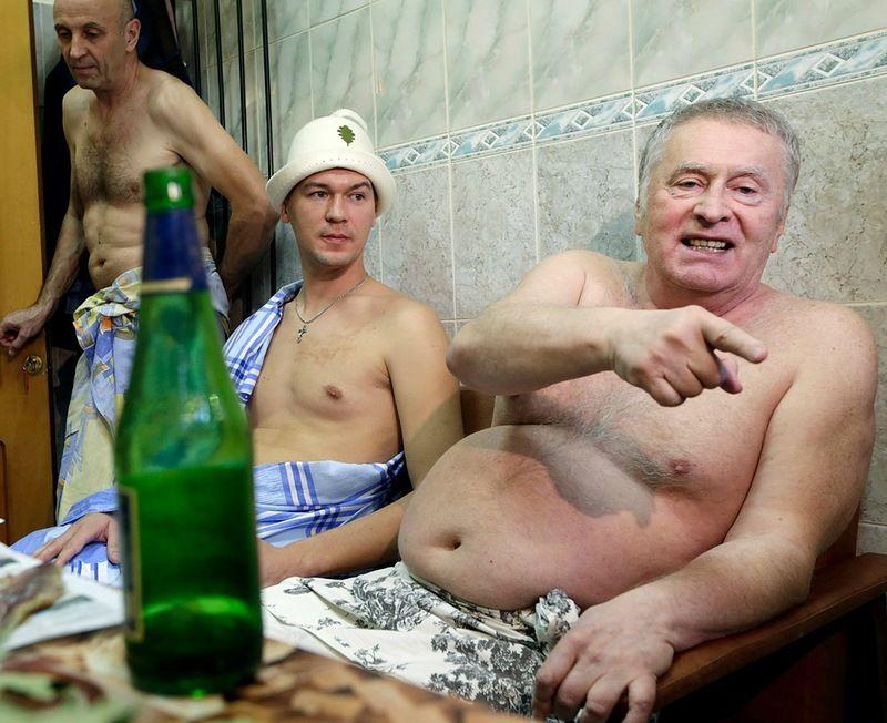 Новый губернатор и Жириновский в сауне с мальчиками