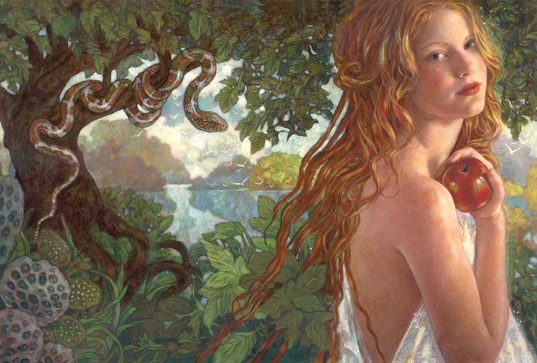Первая жена Адама Лилит с яблоком раздора
