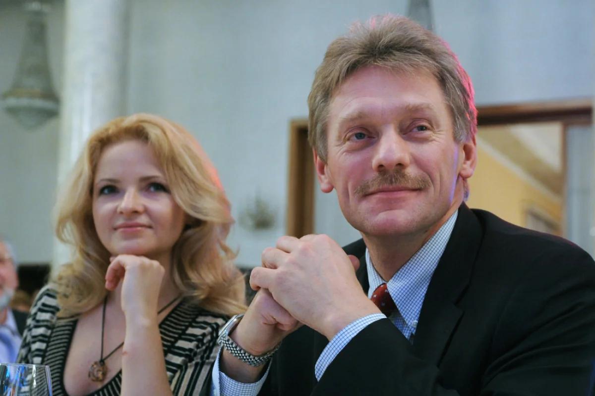 Дмитрий Песков с первой супругой
