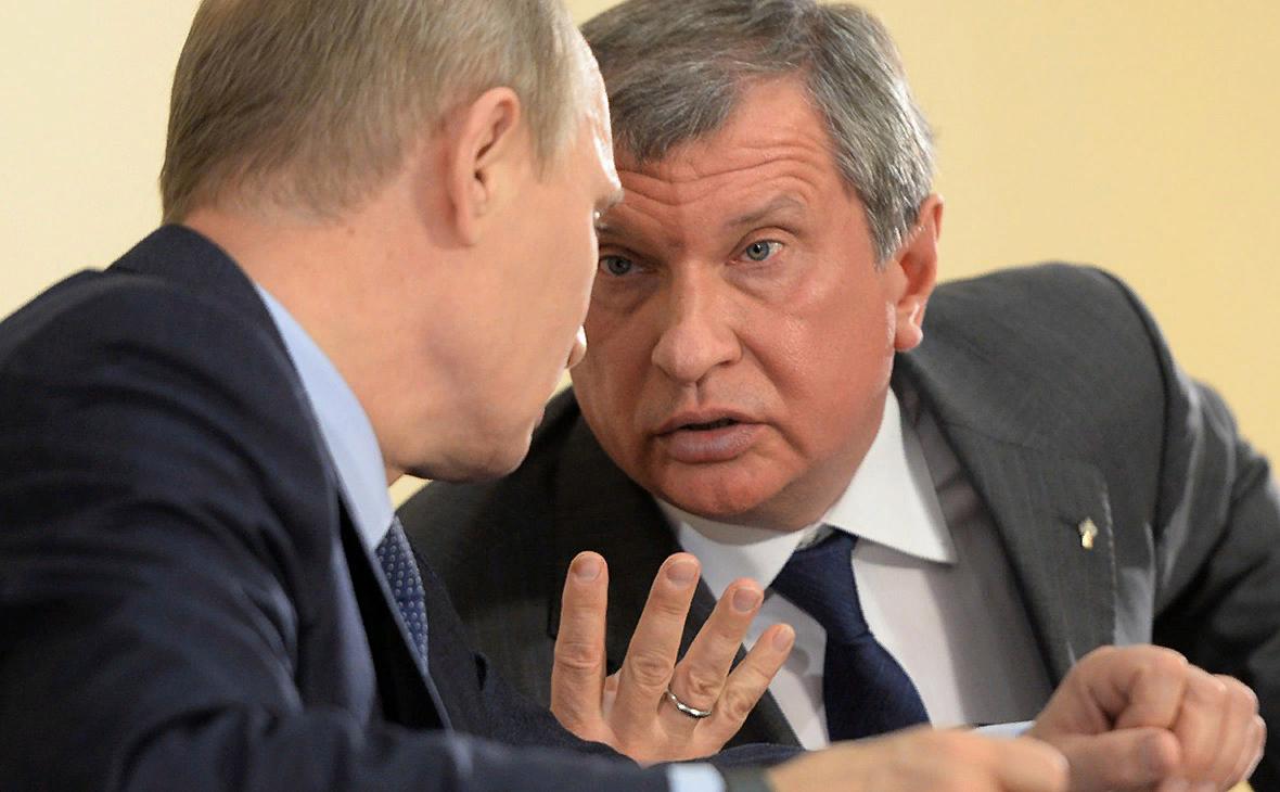 Игорь Сечин и Владимир Путин