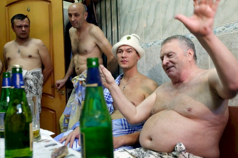 В бане с Жириновским