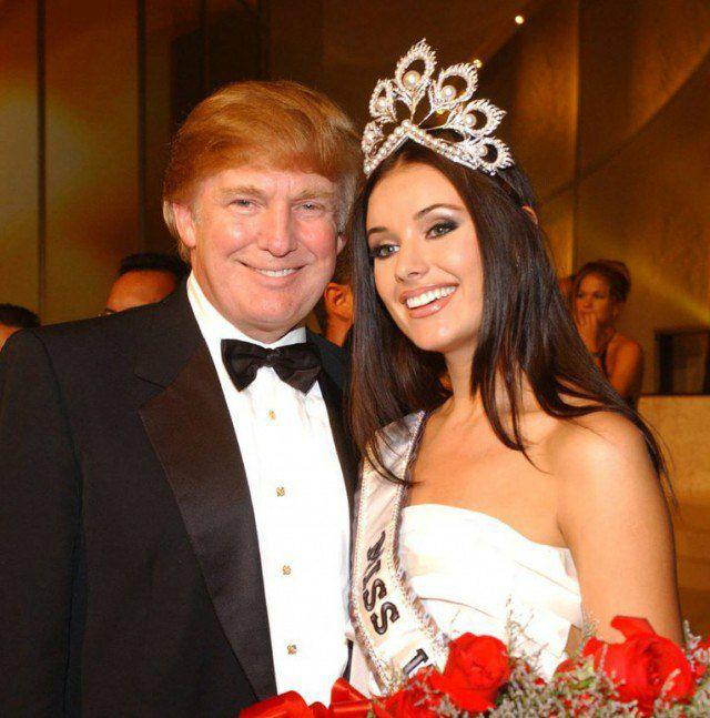 Дональд Трамп с майором МВД и королевой красоты Оксаной Фдоровой