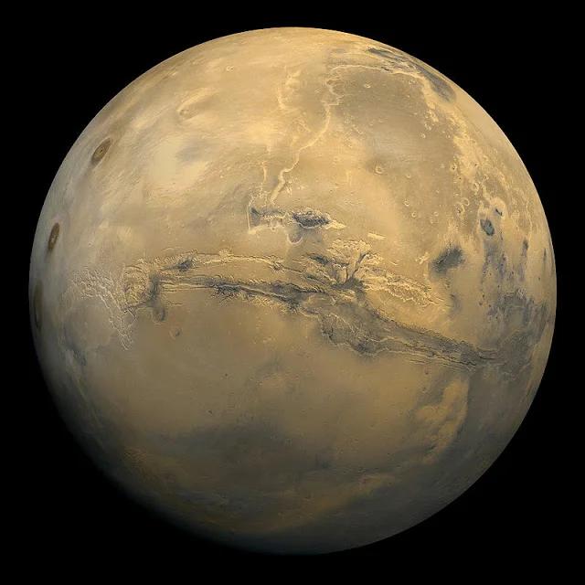 Фотография Марса с космической межпланетной станции - NASA