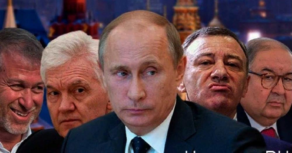 Президент Путин с друзьями - олигархами