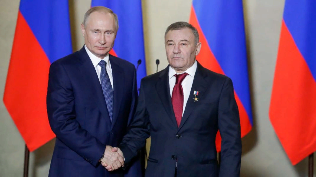 Путин и герой труда РФ Ротенберг