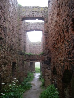 Interior of Slains Castle