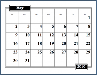 i used to use microsoft words calendar wizard to generate the calendars i use for tracking my writing it produces a very simple page a month calendar that