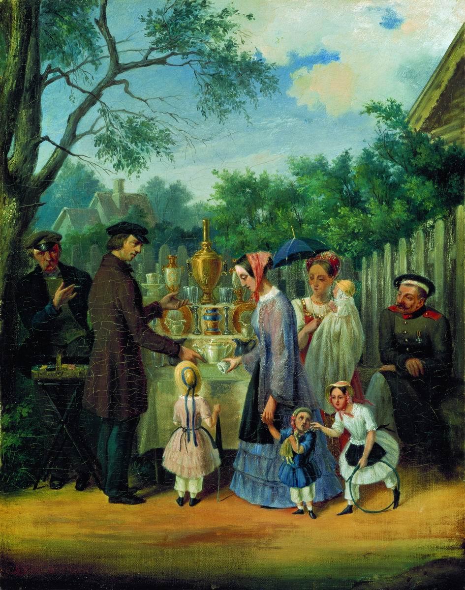 В увеселительном саду (Уличная сценка). 1850–1860