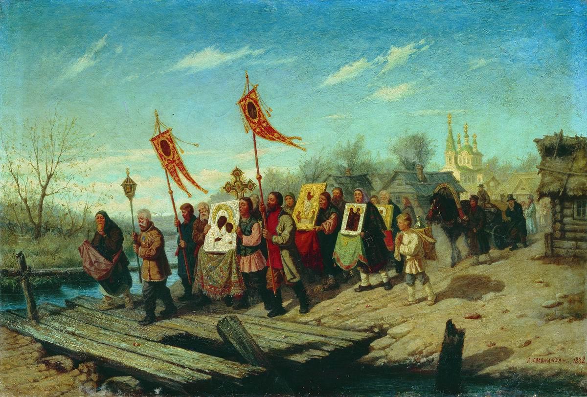 Крестный ход. 1882