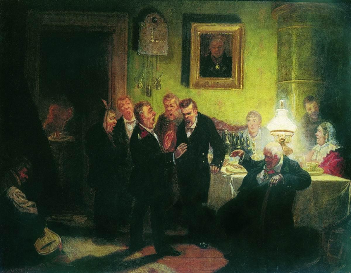 Любители пения. 1882