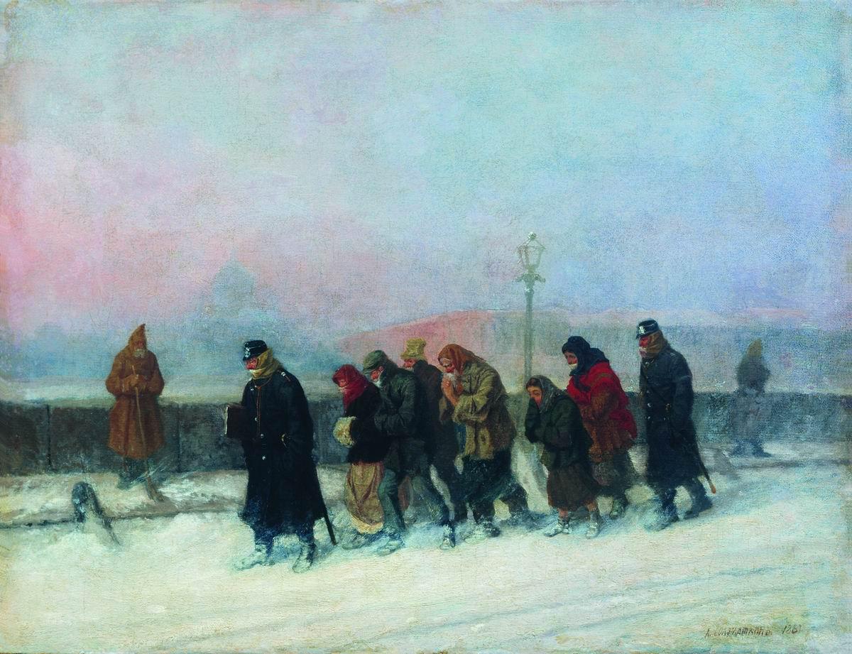 Препровождение арестованных. 1881