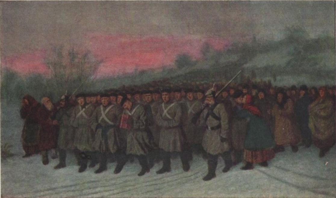 Проводы рекрутов. 1869