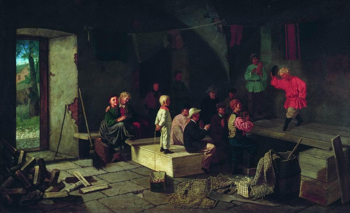 Репетиция в сарае (Детский театр). 1867