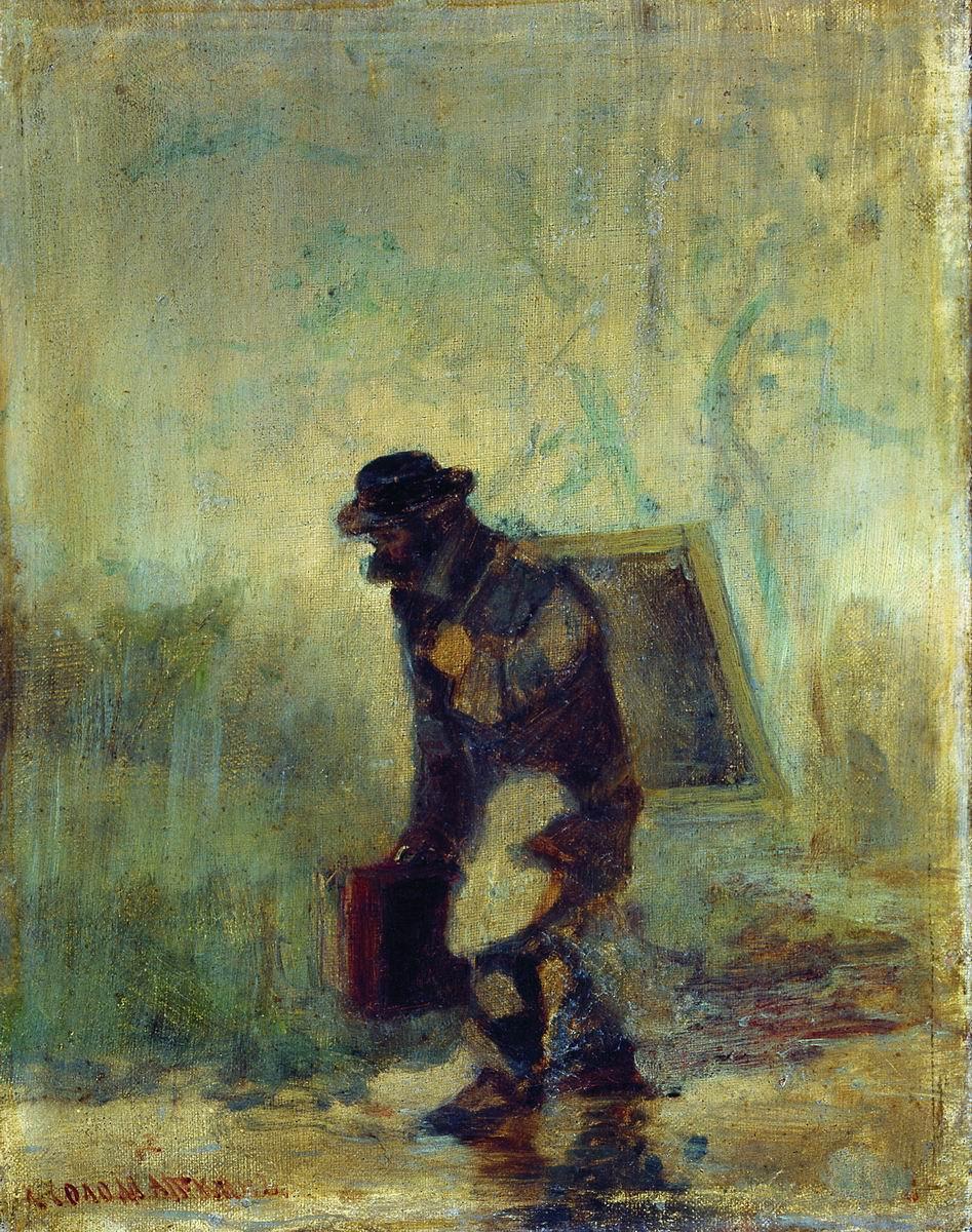 Художник под дождем. 1870–1880