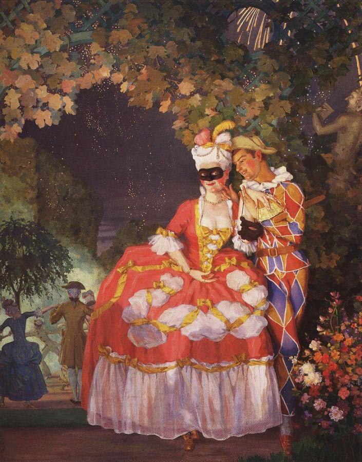 Арлекин и дама. 1921