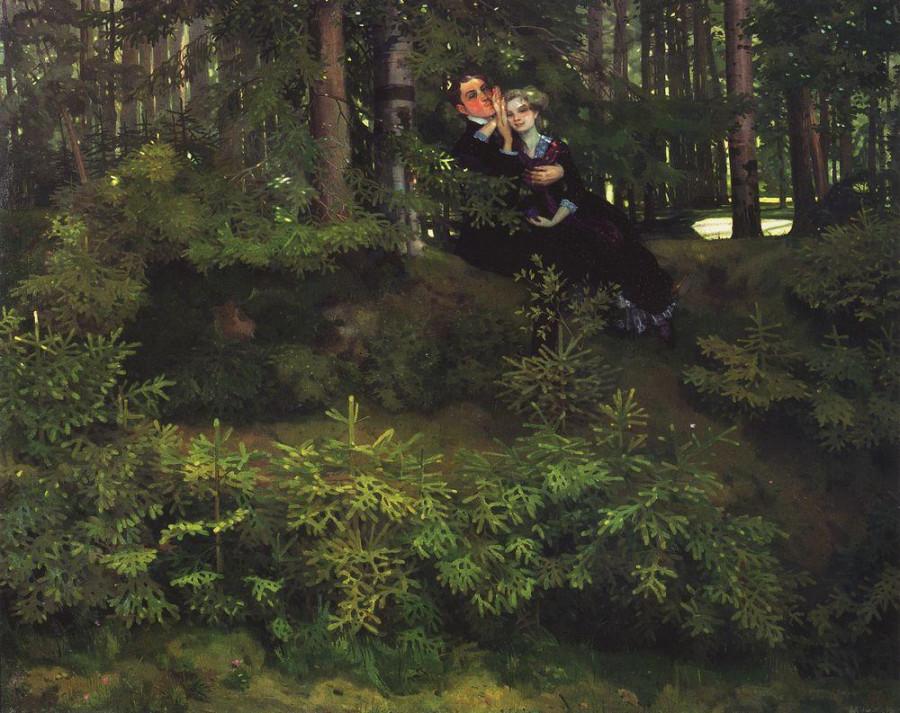 В лесу. 1914