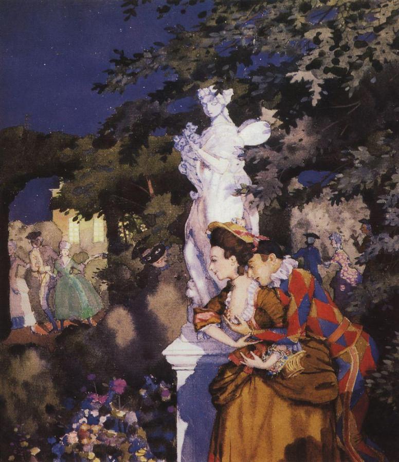 Влюбленный Арлекин. 1912