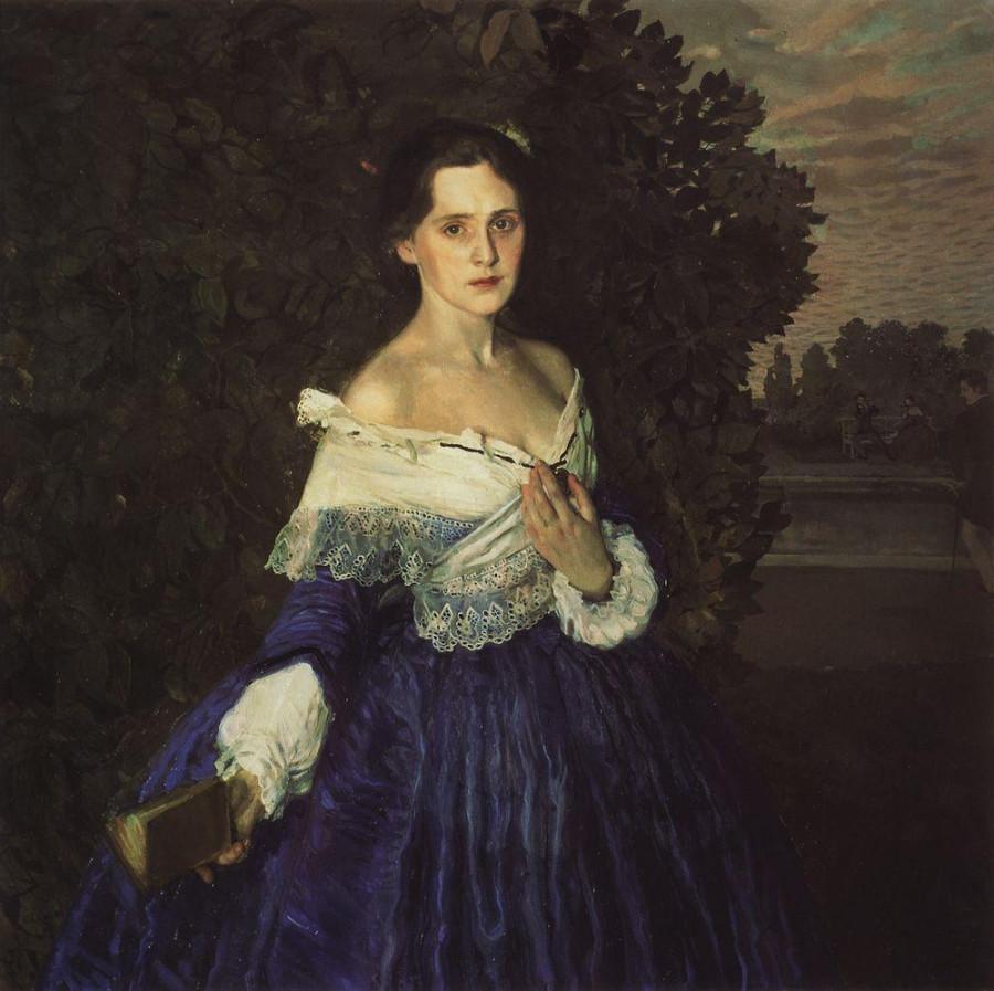 Дама в голубом (Портрет художницы Е.М.Мартыновой). 1897-1900
